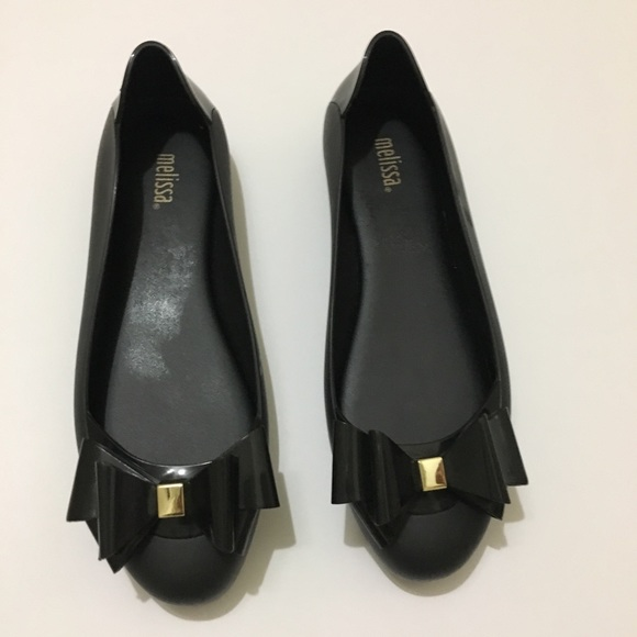Womens Melissa Jelly Flats With Bow